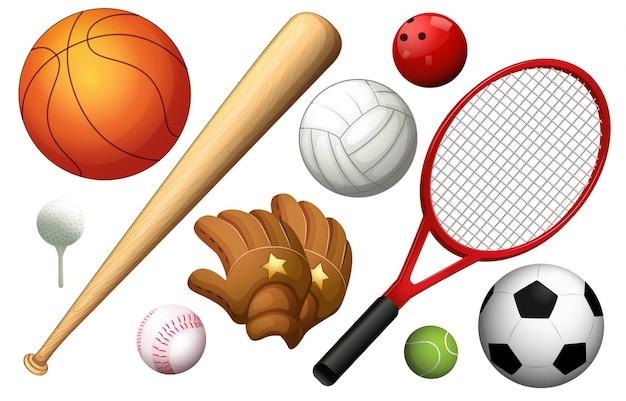 Différents types d'illustration des équipements sportifs