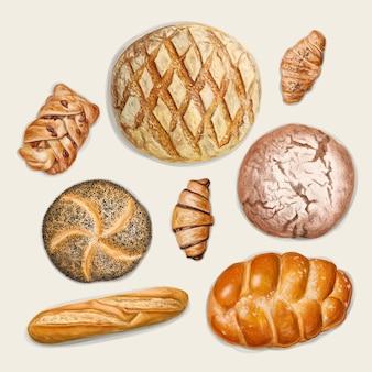 Différents types de pain