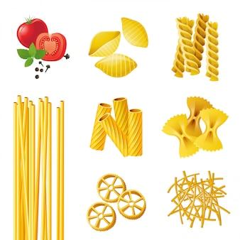 Différents types de pâtes