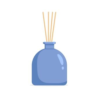 Diffuseur aromatique vectoriel à l'huile parfumée et aux roseaux