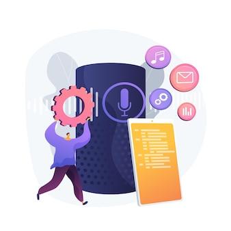 Diffusez divers médias. choisir les paramètres du menu mobile. gérez les fichiers, organisez les enregistrements, diffusez le contenu. dossier du smartphone. distribuez du multimédia. illustration de métaphore de concept isolé de vecteur.