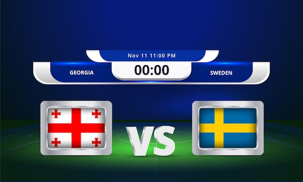 Diffusion du tableau de bord du match de football de la coupe du monde de football 2022 de la fifa