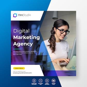 Digital business marketing modèle de post sur les médias sociaux développez votre entreprise