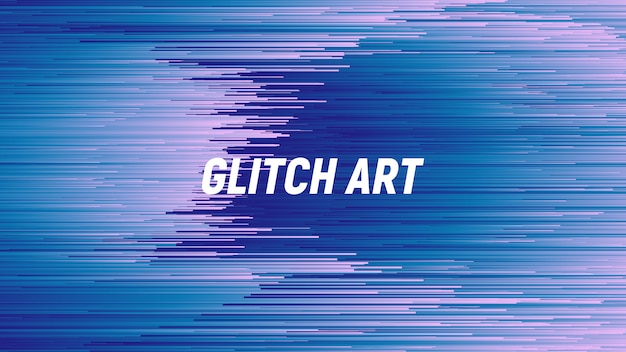Digital glitch art bleu abstrait