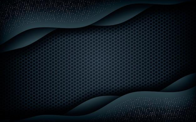 Dimension de la couche d'onde avec des paillettes d'argent