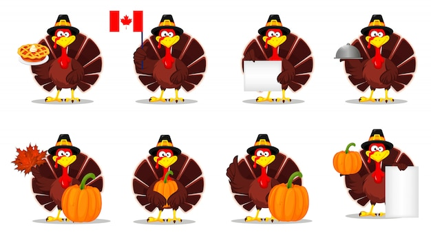 Dinde de thanksgiving. bonne fête de thanksgiving