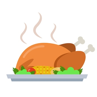 Dinde de thanksgiving rôtie