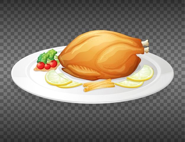 Dinde de thanksgiving sur transparent