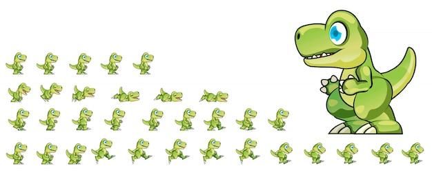 Dino game sprites