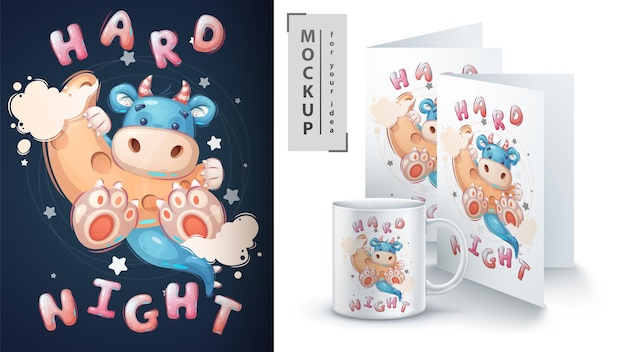 Dino on the moon - affiche et merchandising