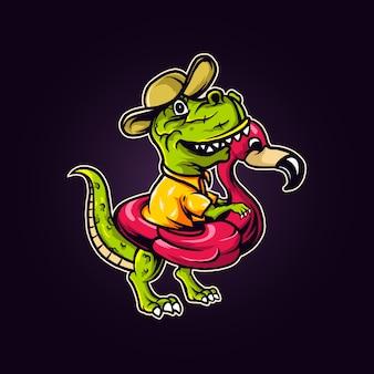 Dino swimming