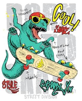 Dinosaure dessiné à la main