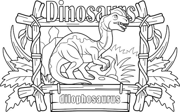 Dinosaure dilophosaurus