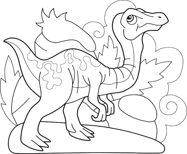 Dinosaure Gallimimus Vecteur Premium
