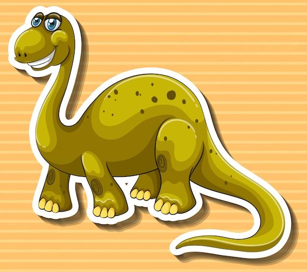 Dinosaure marron avec visage heureux