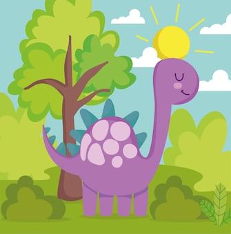 Dinosaure mignon de dessin animé