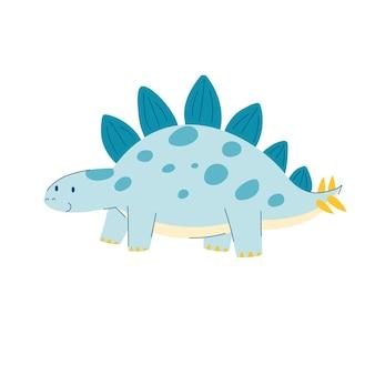 Dinosaure de stégosaure dino dessin animé mignon dans un dinosaure mignon de style dessin animé pour enfants