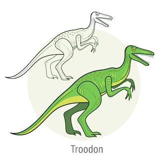Le dinosaure velociraptor.