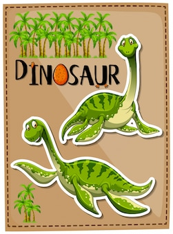 Dinosaure vert avec un visage heureux