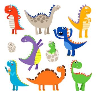 Dinosaures de dessin animé mignon