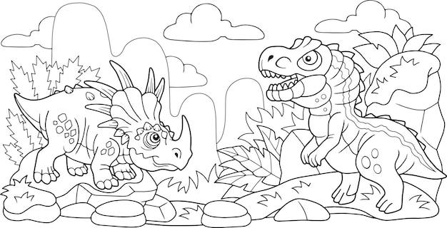 Dinosaures drôles