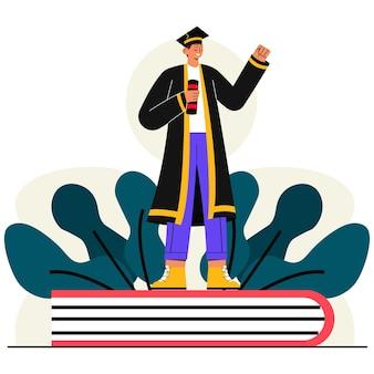 Diplômé de l'école illustration plate
