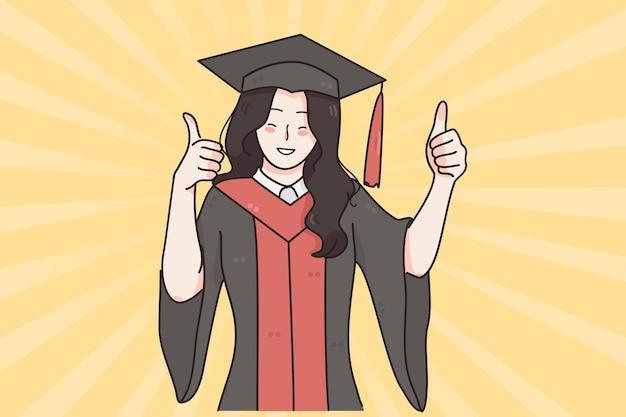 Diplôme d'études réussi du concept universitaire