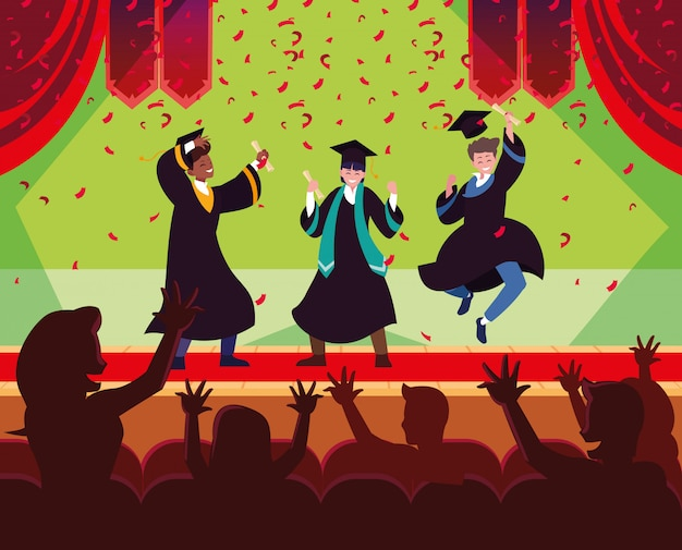 Diplômé des étudiants en fête
