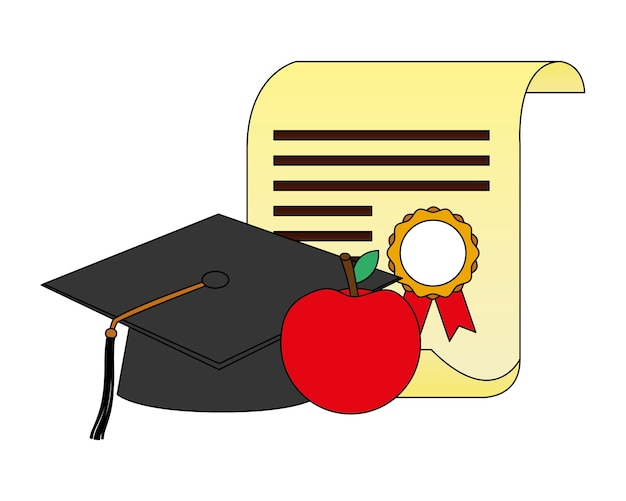 Diplôme de parchemin et remise des diplômes