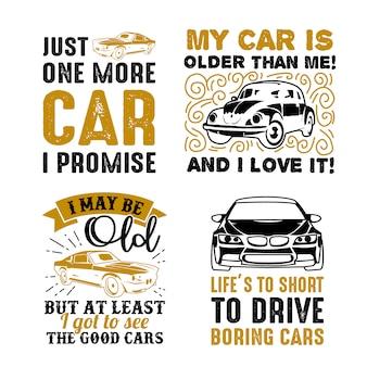 Dire la voiture drôle et citation