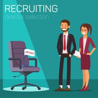 Directeur vacance. sélection du directeur recruteur.