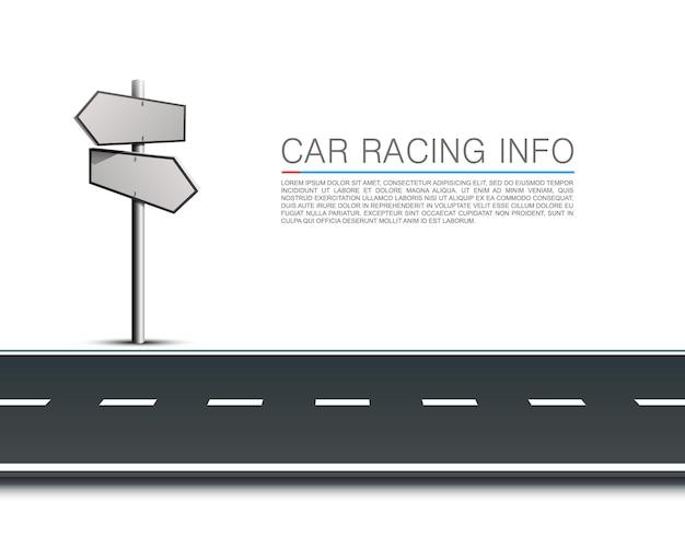 Direction de la colonne 3d, objet sur fond blanc. illustration vectorielle