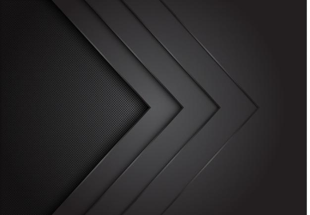 La direction de la couche de flèche noire se chevauche avec le fond de maillage de cercle.