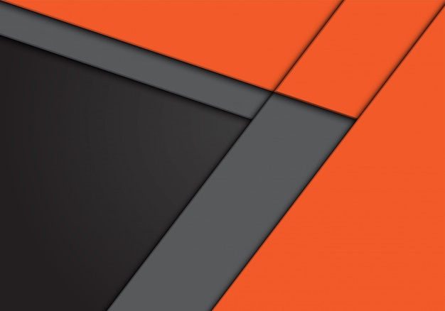 Direction de la flèche orange gris avec fond espace vide.