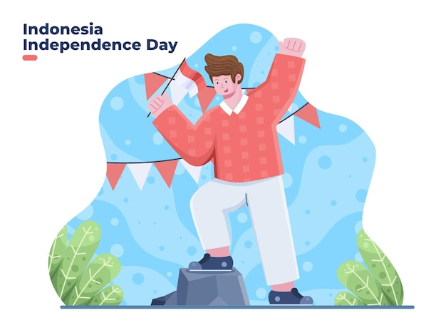 Dirgahayu kemerdekaan jour de l'indépendance de l'indonésie au 17 août traduire joyeuse indépendance de l'indonésie