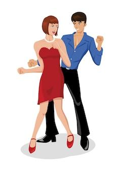 Disco, danse, couple