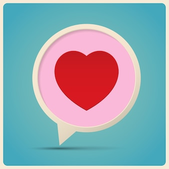 Discours de bulle de coeur