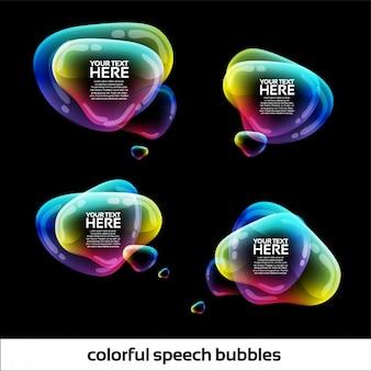 Discours coloré bulles