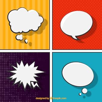 Discours comic bubbles