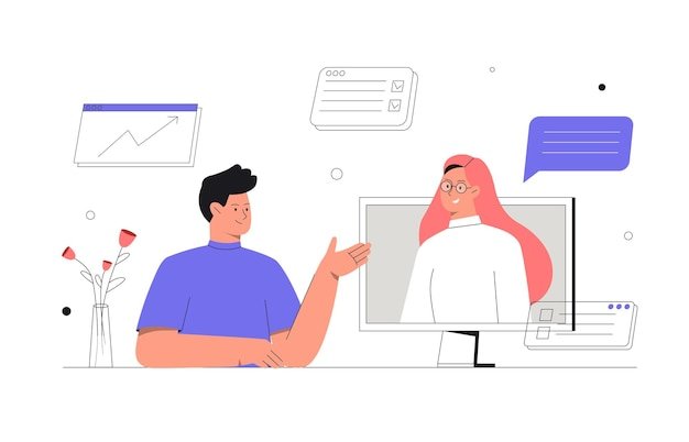 Discussion en ligne et vidéoconférence