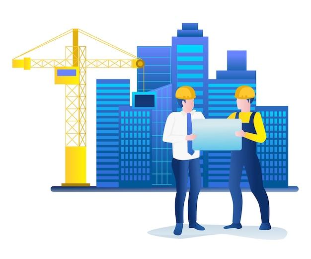 Discussion sur les plans de construction de bâtiments