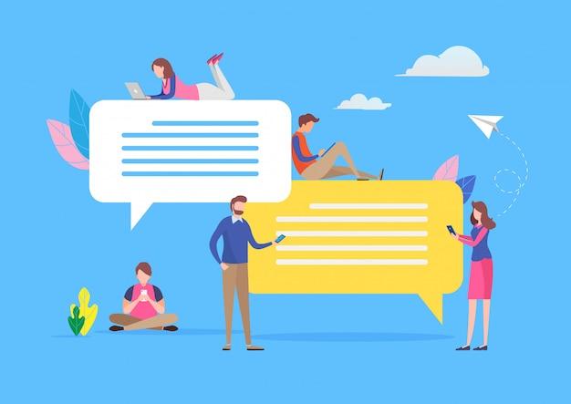 Discuter dans les médias sociaux