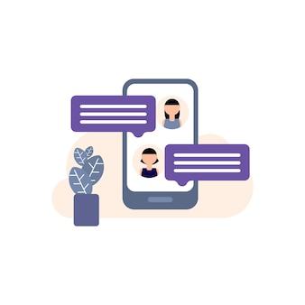 Discuter, icône de chat illustration, discours, bulle, internet, signe, mot unique, parler, discussion, discours, bulle, icône, messagerie texte, communication