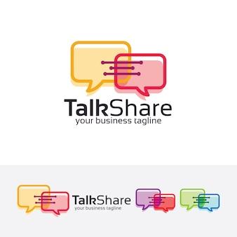Discuter de partager le modèle de logo vectoriel
