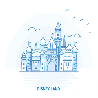 Disney land blue landmark
