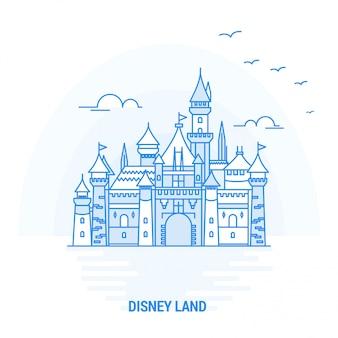 Disney land blue landmark