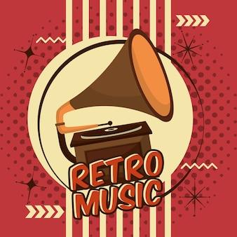 Dispositif de musique gramophone vinyle lp rétro vintage