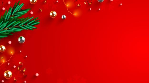 Disposition des décorations de noël avec des branches de sapinsco cadre naturel concept de vacances du nouvel an d'hiver comme ...