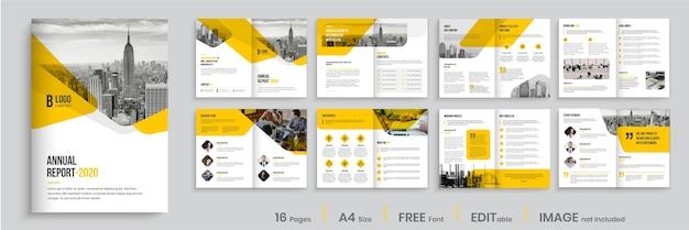 Disposition Du Modèle De Brochure D'entreprise Vecteur Premium
