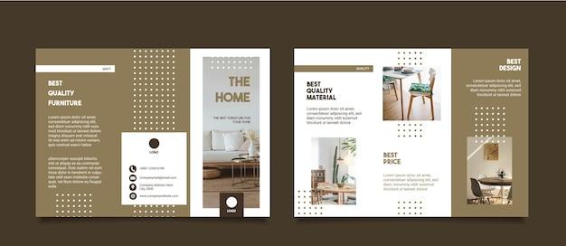 Disposition du modèle de brochure de meubles horizontaux